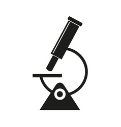 microscope science icon vector image