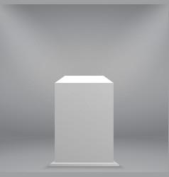 museum pedestal vector image