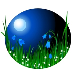Night flowers vector