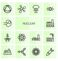 Nuclear icons vector