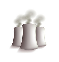 Nuclear power plant isolated vector