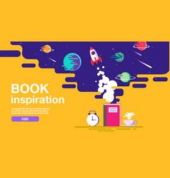 Open book space background school reading vector