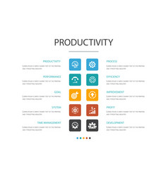 Productivity infographic 10 option concept vector