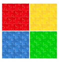 puzzle backgrounds vector image