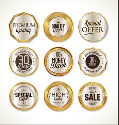 Quality golden label collection 2 vector
