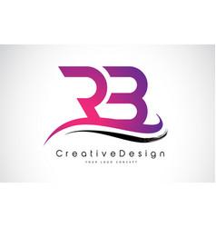 Rb r b letter logo design creative icon modern vector