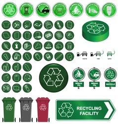 Recycling and environment vector image