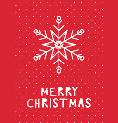retro styled christmas card vector image
