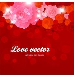 Romantic Floral vector image