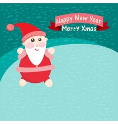 Santa Claus in the snow vector image