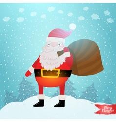 Santa Claus with gift bag vector