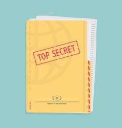 Secret folder with documents vector