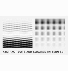 Set halftone element monochrome abstract graphic vector