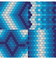 Set of seamless patterns with hexagonal tiles vector image