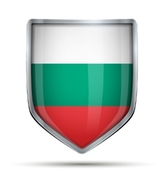 Shield with flag bulgaria vector
