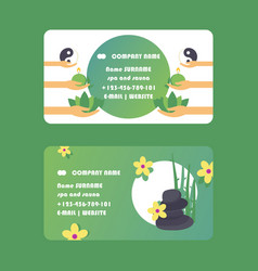 Spa and sauna business card design vector