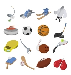 Sport cartoon icons vector