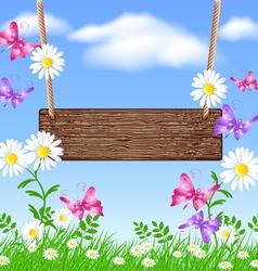 Spring Swing vector