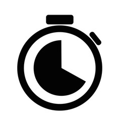 stopwatch icon design template eps10 vector image
