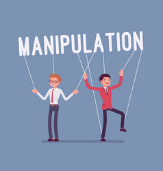 String manipulation puppet people vector
