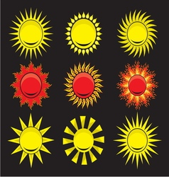 Suns - elements for design vector image