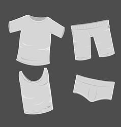T Shirt Pants Undershirt Panties Clothes vector