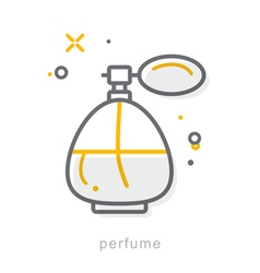 Thin line icons Perfume vector image
