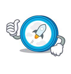 Thumbs up stellar coin character cartoon vector