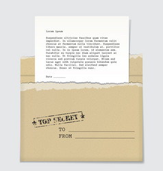 Top secret letter vector