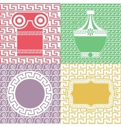 Vintage frames line seamless background for party vector image
