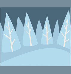 winter landscape pine forest with snowy hills vector image