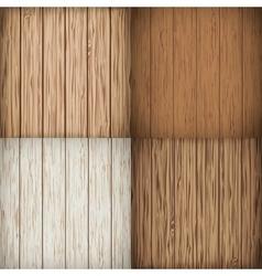 Wooden background set vector