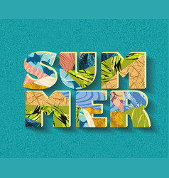 word summer fromsketch contemporary floral vector image