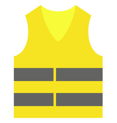 Yellow vest icon vector