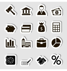 Business Icons Set as Labes vector image vector image