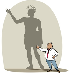 businessman and his shadow vector image vector image