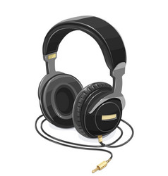 headphones for listen music vector image vector image