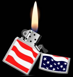 lighter with flame vector image vector image