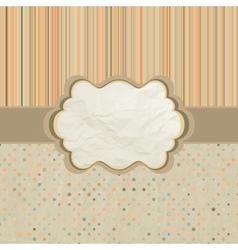 Polka dots pattern card vector image