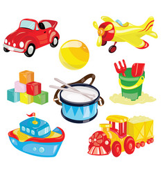 set of toys for children for vector image