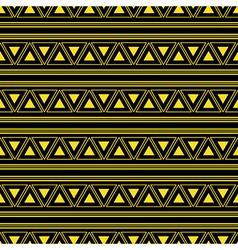 Triangle aztec yellow neon background vector