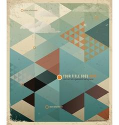Triangle retro background vector