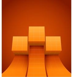 Abstract cubes moving up vector image vector image