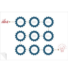 Concept template with gear wheels vector