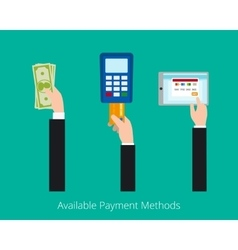 Payment options concept vector image