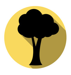 tree sign flat black icon vector image vector image