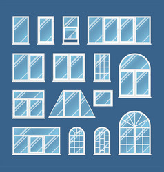 windows with transparent glass vector image vector image
