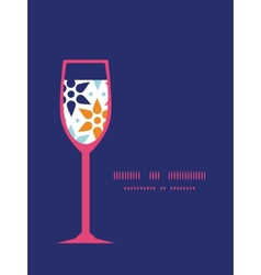 Abstract colorful stars wine glass vector
