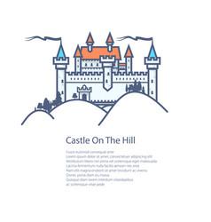 brochure castle hill flyer design vector image