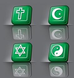 button religion vector image vector image